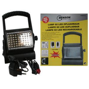 LAMP 60LED 3.7V 1800 mAH Li-ION battery