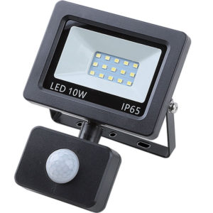 Led floodlight flat 10 watt smd + sensor IP 65