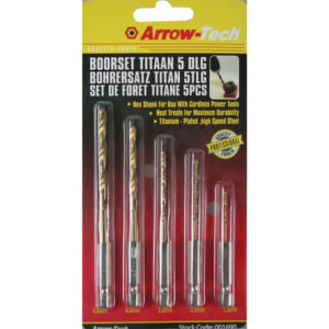 Puurikomplekt 5 tükki, Titan, 4.8mm, 4.0mm, 3.2mm, 2.5mm, 1.5mm
