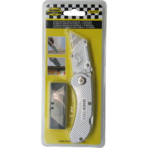 Нож складывающий – Stanley knife foldable + 5 blades