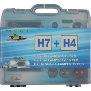 Autovalgusti, autolampid, h7 + h4,  komplektis 19 tükki