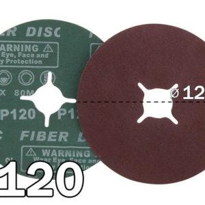 Liivapaber, #120 – 125 x 22.23 fibra (25tk)