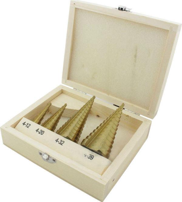 Koonuspuur , 4-12, 4-20, 4-32, 4-39 mm, конические титановых сверла