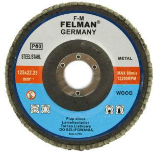 Lihvketas, Flap wheel 125×22.23mm P80 FELMAN