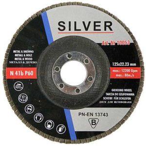 Lihvketas, Flap wheel 125×22.23mm P60 SILVER
