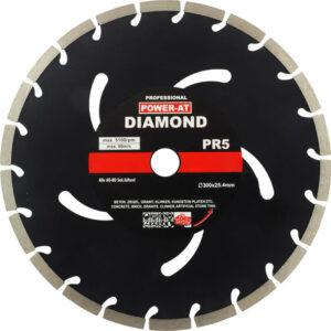 Teemantketas Ø300 x 10mm, betooni lõikamiseks, plokid, Power-Alt