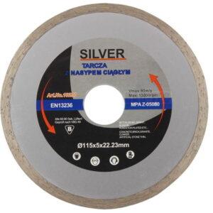 Teemantketas sile 125x5x22.23mm, SILVER