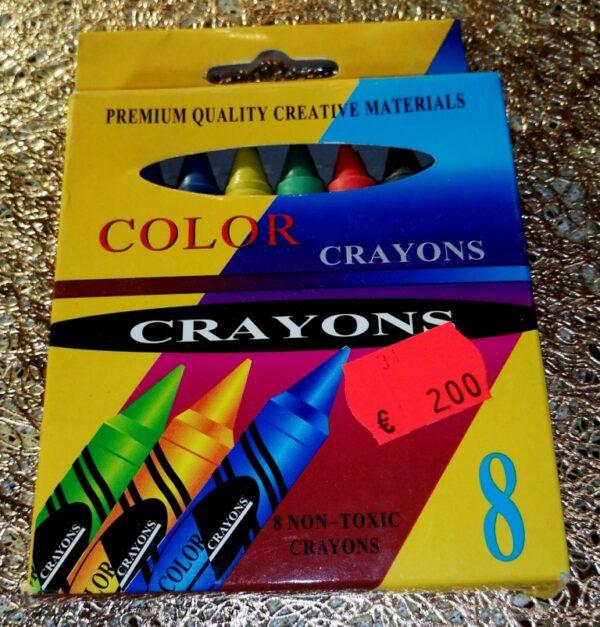 Värvipliiats 8 värvi, COLOR CRAYONS. Цветные мелки