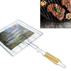 Grillrest, puidust käepide 26,5 x 26,5 cm Решетка для гриля