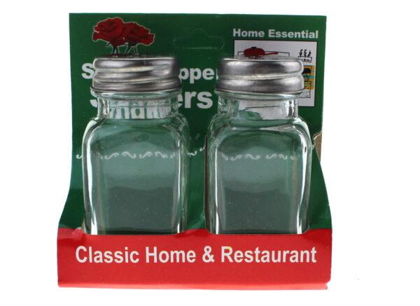 Klaasist soolakarpide ja paprikate komplekt 9x4 cm. Набор стеклянных солонек и перца