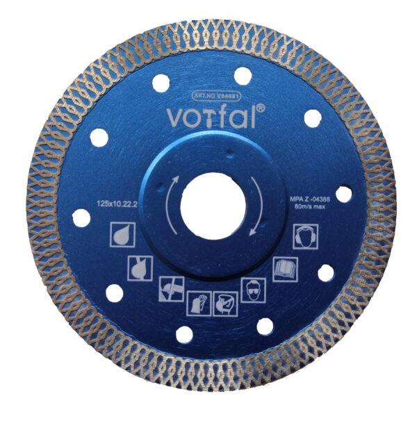 Teemanttera 125 mm portselanist kivikeraamika lõikamiseks. Алмазный диск 125 мм для резки керамогранита