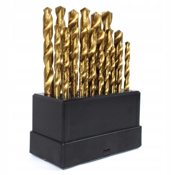 Titaanist metallipuurid, HSS 25tk 1-13mm. Титановые сверла по металлу